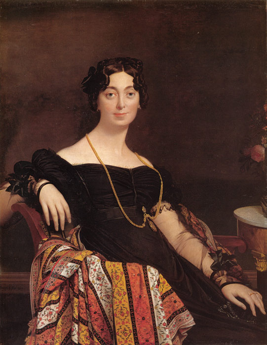 Madame Jacques Louis Leblanc - Jean Auguste Dominique Ingres