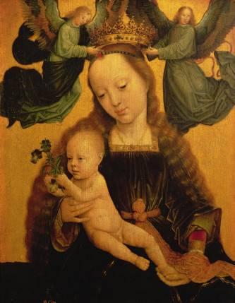 Madonna and Child Crowned by Two Angels - Gerard David