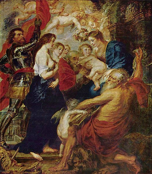 Madonna with the Saints - Peter Paul Rubens