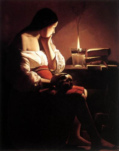 Magdalen with the Smoking Flame - Georges de La Tour