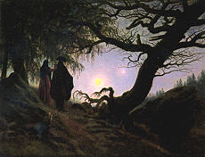 Man and Woman Contemplating the Moon - Caspar David Friedrich