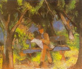Man in Park - August Macke