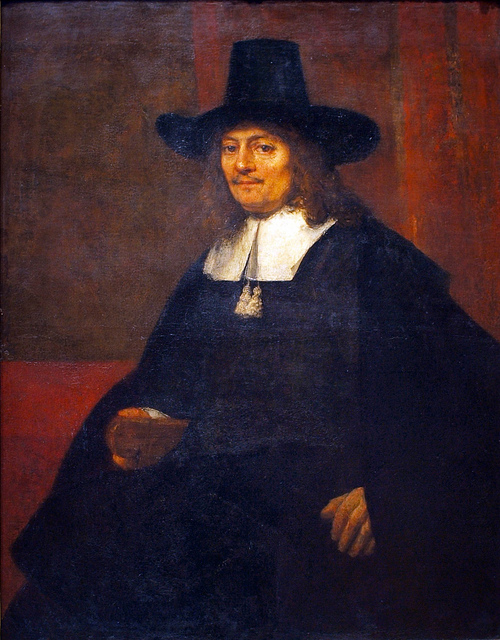 Man in a Tall Hat - Rembrandt van Rijn