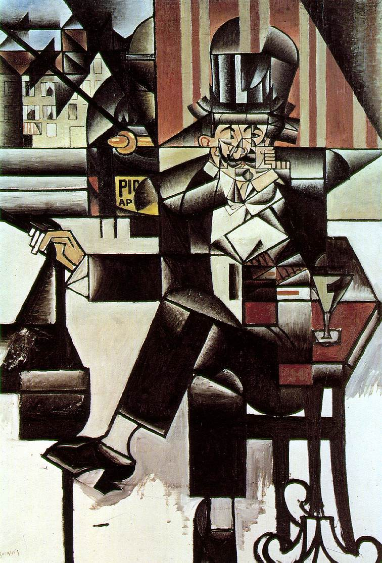 Man in the Cafe - Juan Gris