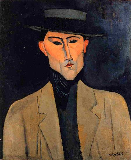 Man with Hat - Amedeo Modigliani
