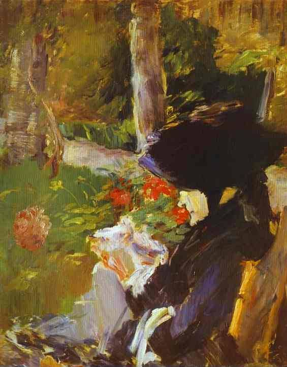 Manets Mother in the Garden at Bellevue - Edouard Manet