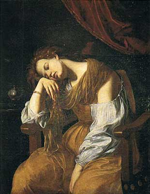 Mary Magalene as Melancholy - Artemisia Gentileschi