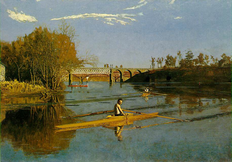 Max Schmitt in a Single Scull - Thomas Eakins