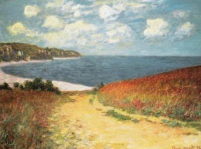 Meadow Road to Pourville - Claude Monet