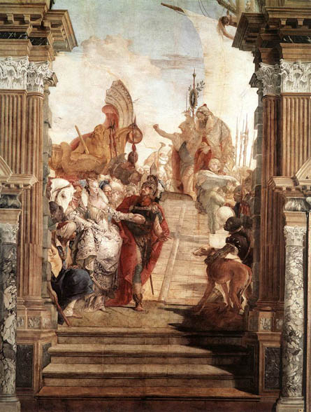 Meeting of Anthony and Cleopatra - Giovanni Tiepolo