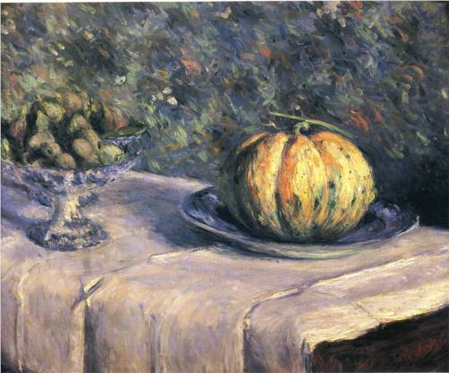 Melon and Bowl of Figs - Gustave Caillebotte