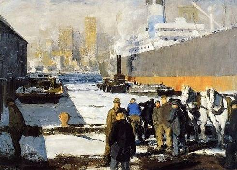 Men of the Docks (East River, New York City) - George Bellows