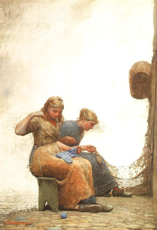 Mending the Nets - Winslow Homer