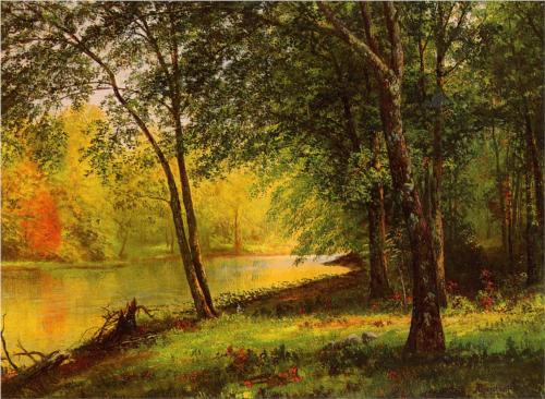 Merced River, California - Albert Bierstadt