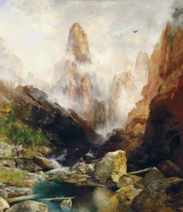 Mist in Kanab Canyon Utah - Thomas Moran