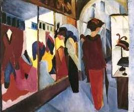 Modegeschaft 1913 - August Macke