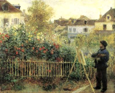 Monet at Argenteuil - Pierre Auguste Renoir