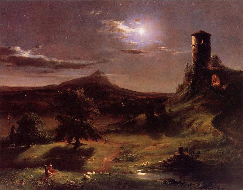 Moonlight - Thomas Cole