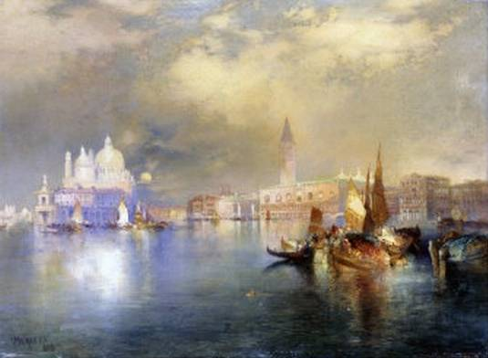 Moonlight in Venice - Thomas Moran