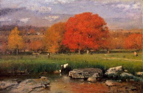 Morning Catskill Valley - George Inness