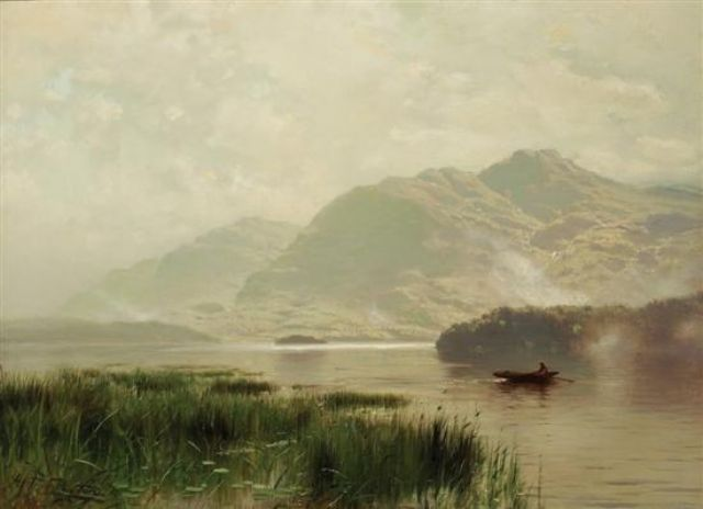Morning Row on the Lake - Arthur Parton