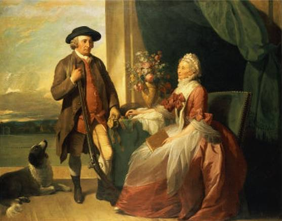 Mr Robert Grafton and Mrs Mary Partridge Wells Grafton - Benjamin West