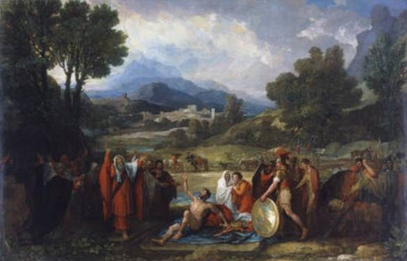 Mr Saul Before Samuel and the Prophets - Benjamin West