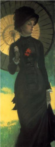 Mrs Newton with a Parasol - James Tissot