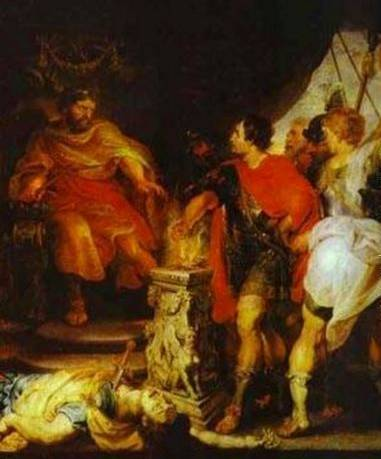 Mucius Scaevola Before Porsenna w/ Anthony van Dyck - Peter Paul Rubens
