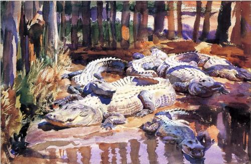 Muddy Alligators - John Singer Sargent