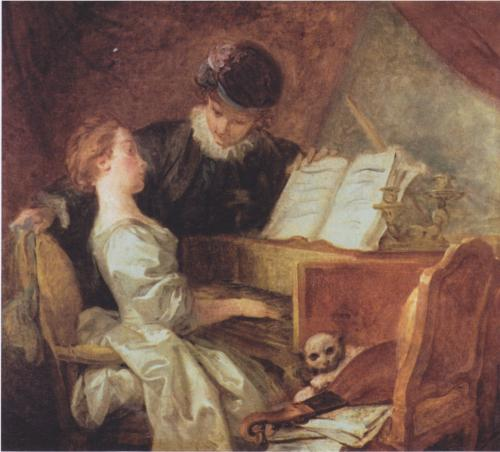 Music Lesson - Jean Honore Fragonard
