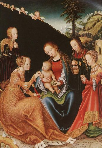 Mystic Marriage of St Catherine - Lucas Cranach