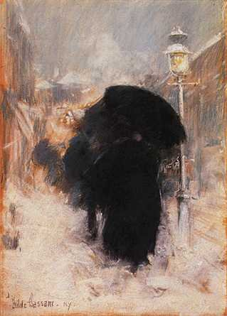 New York Blizzard - Childe Hassam