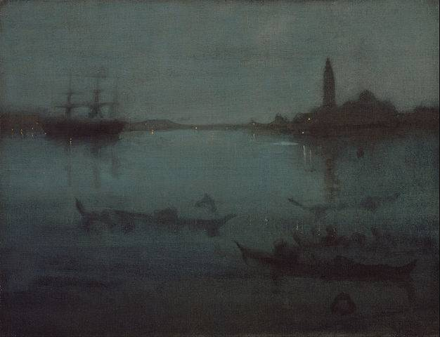 Nocturne in Blue and Silver: The Lagoon, Venice - James McNeill Whistler