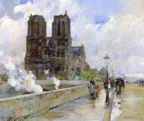 Notre Dame Cathedral, Paris - Childe Hassam