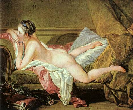 Nude on a Sofa - Francois Boucher