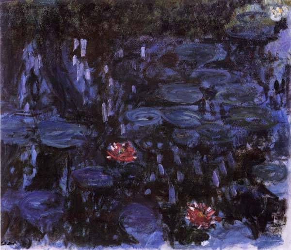 Nympheas reflets de Saule - Claude Monet