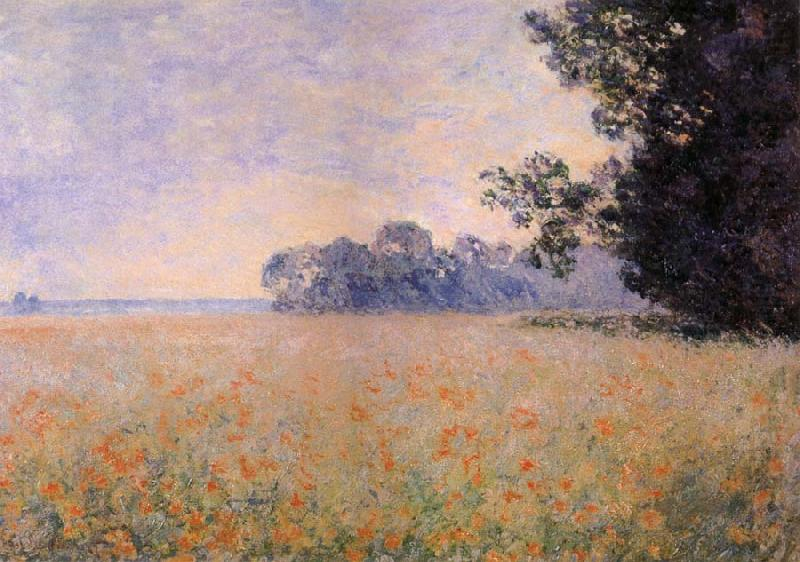 Oat Field with Poppies - Claude Monet