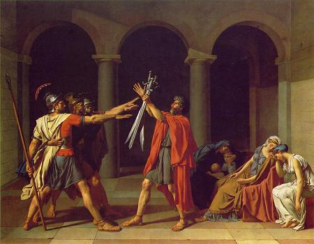 Oath of Horati - Jacques Louis David