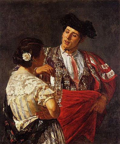 Offering the Panel to the Bullfighter - Mary Cassatt