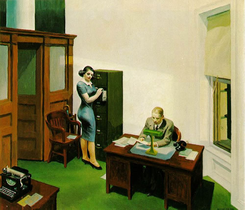 Office at Night - Edward Hopper