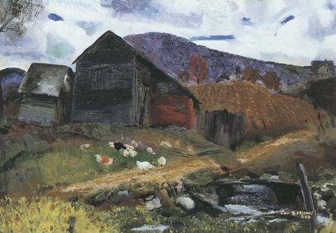 Old Barn in Shady Valley - George Bellows