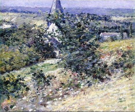 Old Church at Giverny - Theodore Robinson