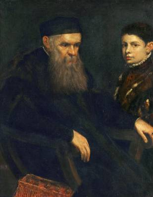 Old Man and Boy - Jacopo Robusti Comin Tintoretto