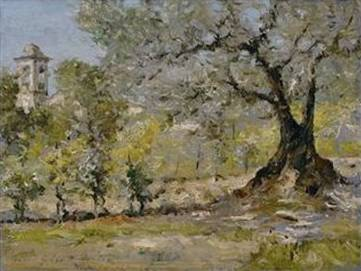 Olive Trees in Florence - William Merritt Chase