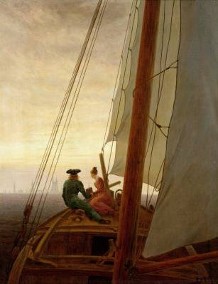 On Board a Sailing Ship - Caspar David Friedrich