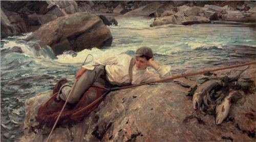 On His Holidays, Norway - John Singer Sargent