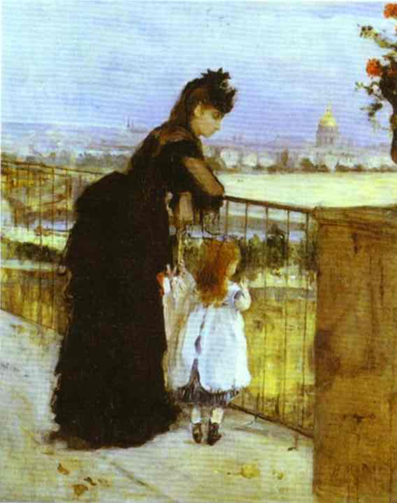 On the Balcony - Berthe Morisot