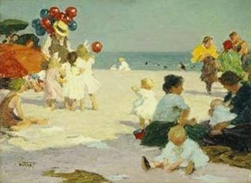 On the Beach - Edward Henry Potthast