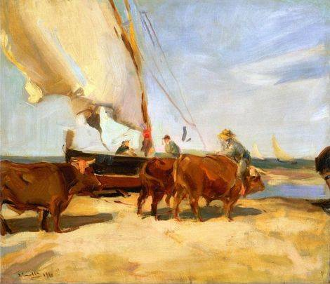 On the Beach at Valencia - Joaquin Sorolla
